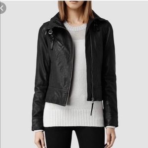 ALL SAINTS Belvedere Leather Moto Biker Jacket
